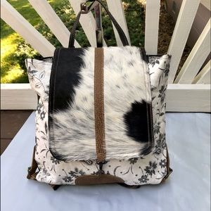 Myra Bloom Bleach Backpack Bag Purse NWT